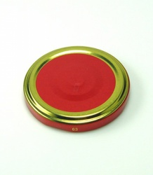 66 Twist Off Deckel Dekor rot-gold